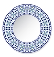 Blue decorative plate with pattern vector image