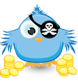 cartoon pirate sparrow vector image