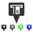 euro atm pointer flat icon vector image