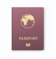 international identification document for travel vector image