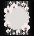 round frame with orchids vector image