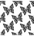 Seamless pattern of butterflies vector image