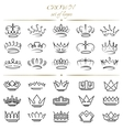 Set of crowns in different styles vector image