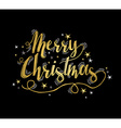 Merry christmas gold greeting card with stars vector image vector image