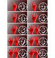 Numbers and hands vector image vector image