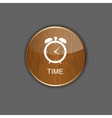 Watch wood application icons vector image vector image