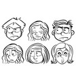 Six people with different expressions vector image