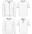 Set of male shirts vector image vector image