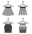 Black Women Skirts With Hangers vector image