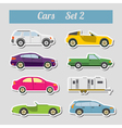 Set of elements passenger cars for creating your vector image