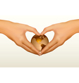 hands shaped heart vector image