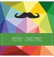 Holidays card with hipster mustache vector image vector image
