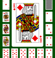 Playing cards of Diamonds suit vector image vector image