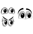 Cartoon eyes eps10 vector image