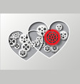 heart and gear vector image