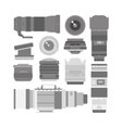 Photo optic lenses set vector image