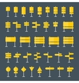 Road Signs and Pointers Flat Icons Set vector image