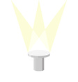 Round Pedestal on a white background with light vector image