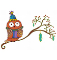 Winter Owl cartoon vector image