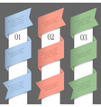 Vertical paper numbered banners vector image vector image