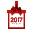 Happy New Year 2017 square banner vector image