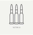 line flat military icon - ammunition  ammo vector image