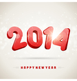 Happy New Year 2014 3d message vector image