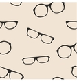 Hipster glasses seamless pattern or background vector image vector image