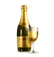 Champagne vector image vector image