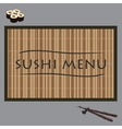 sushi on bamboo vector image