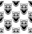Seamless pattern with theater comedy masks vector image