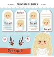 collection printable gift tag label vector image