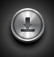 metallic download icon vector image