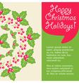 Mistletoe Card vector image