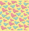 Seamless pattern with doodle birds vector image