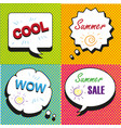 set of comic text pop art style vector image