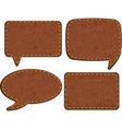 Set of jeans leather labels vector image