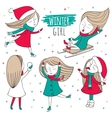 Snow fun set vector image