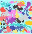 splash seamless pattern grunge colorful hand drawn vector image