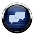 Blue honeycomb talk icon vector image vector image