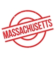Massachusetts rubber stamp vector image