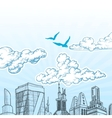 City sky vector image