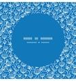blue white lineart plants frame seamless pattern vector image