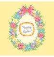 Easter wreath egg vector image