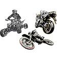 motorcycle trio vector image