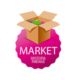 logo box with goods for shopping vector image