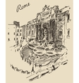 Rome Landmark in Italy engraved hand drawn vector image