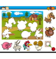 cartoon educational task for kids vector image