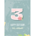 Happy Birthday for girl 1 Year vector image