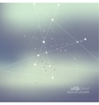 Abstract Background with Dots Array and Lines vector image